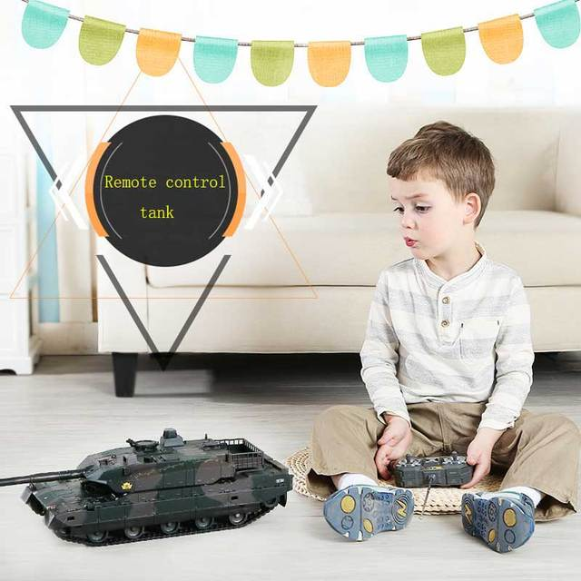 Rechargeable Remote Control Tank 40CM Camouflage RC Tank 1/20 9CH 27Mhz Infrared Electric Toys For Children Boys Birthday Gifts  1
