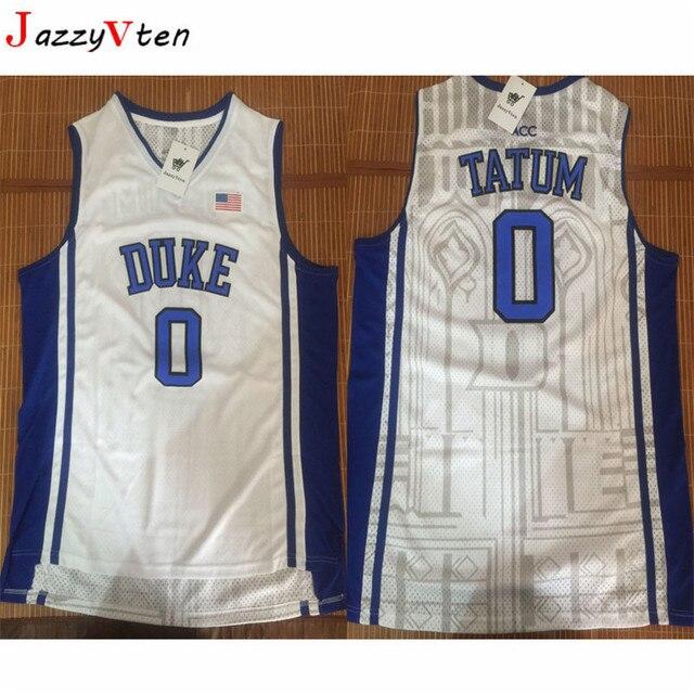 e69e642b6001 JazzyVten Cheap Kyrie Irving Basketball Jerseys 1  Duke University 0   Jayson Tatum Throwback Commemorative Retro Shirts