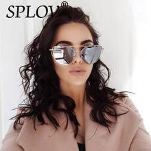 2018 New Cat Eye Aviation Sunglasses Women Fashion Vintage Rose Gold Mirror Sun Glasses Ladies Sunglasses Hut UV400 Unique Flat
