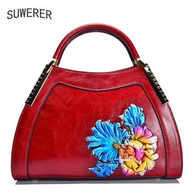 2019 Nova Couro Genuíno das mulheres sacos de Moda Em Relevo arte bolsas bolsas de luxo mulheres sacos de designer bolsas de couro das mulheres