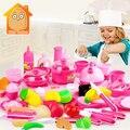 Minitudou culinária clássica toys para crianças 46 pcs conjunto de corte de alimentos crianças pretend play kitchen toys