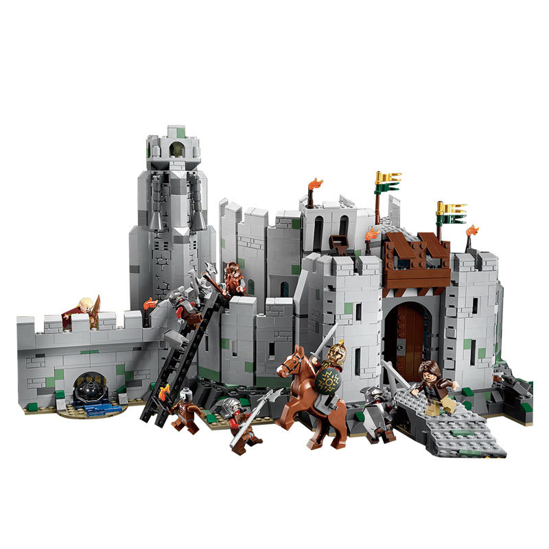 WAZ Compatible Legoe Lord of the Rings 9474 Lepin 16013 1368pcs Battle Of Helm's Deep building blocks bricks toys for children hot sale the hobbit lord of the rings mordor orc uruk hai aragorn rohan mirkwood elf building blocks bricks children gift toys