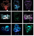 Shhipping libre de la Historieta Del Gatito Del Gato de Cumpleaños de fútbol Soccer Colorida Lámpara de Luminaria LED Luz de La Noche 3D USB Mesa de luz luminaria