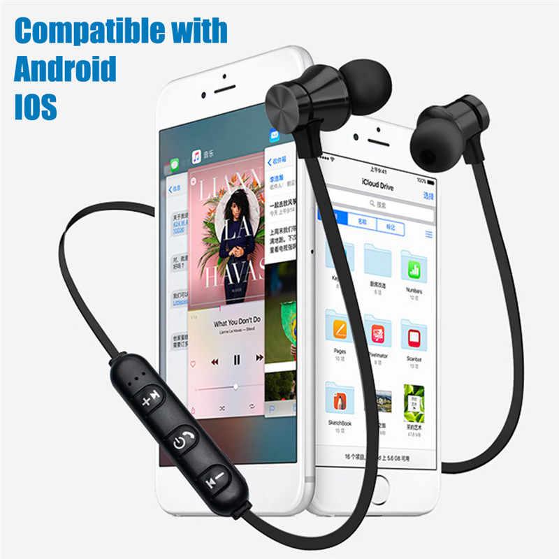 XT11 magnetyczny Bluetooth 4.2 słuchawki sportowe do biegania bezprzewodowy zestaw słuchawkowy z pałąkiem na kark słuchawki z mikrofonem Stereo muzyka dla wszystkich inteligentnych telefonów