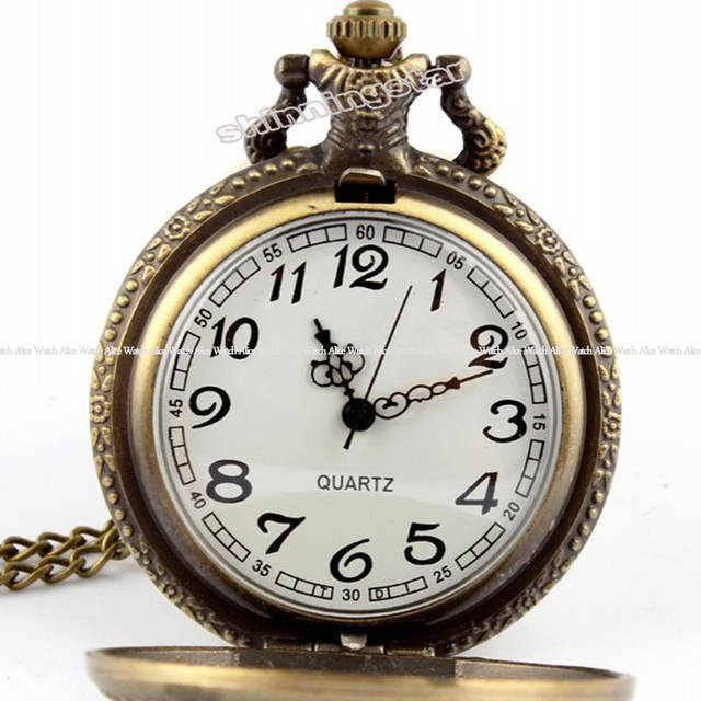0111c65ef71 Vintage Bronze Motorcycle Motorbike Pocket Watch Retro Necklace Pendant  Chain MOTO Quartz Watch Relogio De Bolso