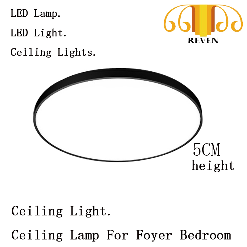 Modern Acryl Alloy Round 5cm Super Thin LED Lamp.LED Light.Ceiling Lights. Ceiling Light.Ceiling Lamp For Foyer Bedroom 110-220V
