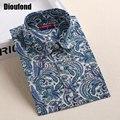Dioufond bohemia mulheres blusas camisas de manga longa mulheres tops de verão turn down collar camisa blusa plus size 20 cores