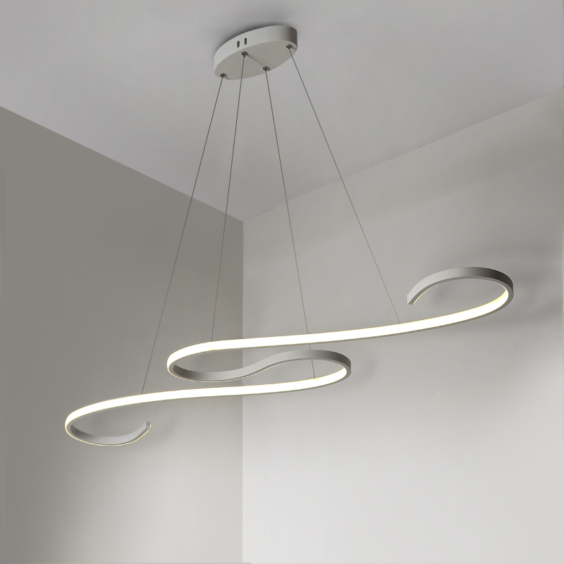 Modern Led Pendant lights Hanging Lighting White/Black Hang Lamp For Dining room Kitchen ...