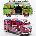 1:32 modelos de automóviles de aleación, alta simulación Volkswagen wagon, metal a troquel, automóviles de juguete, tire hacia atrás de moviles y musicales, envío libre