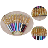 Wholesale 100pcs Gold Foil Ballpoint pen Metal Pen as Luxury Gift Office Bussiness 19 colors for Options Ecolar Material