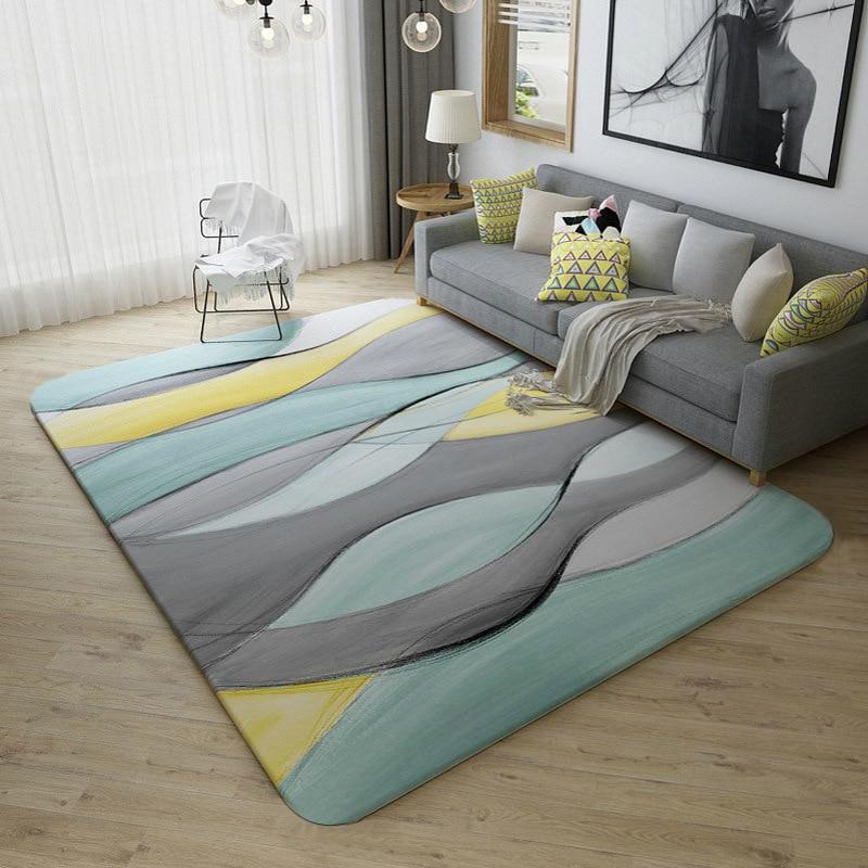 Europe du nord Concise abstraite Arts imprimé tapis pour salon grands tapis enfants jouer à des jeux chambre tapis alfombra