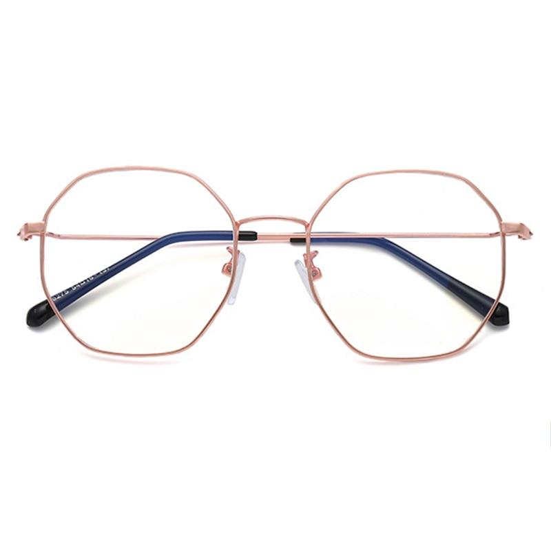 Rezept Männer Optische Frauen Myopie Retro Full Rahmen Mode Ultraleicht Brillen frame Metall Polygonal F46wvyZdq6