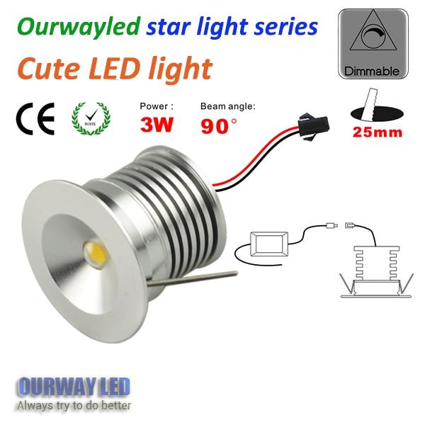 ∞high quality Star light series dim 30mm cut hole 25mm easy install ...
