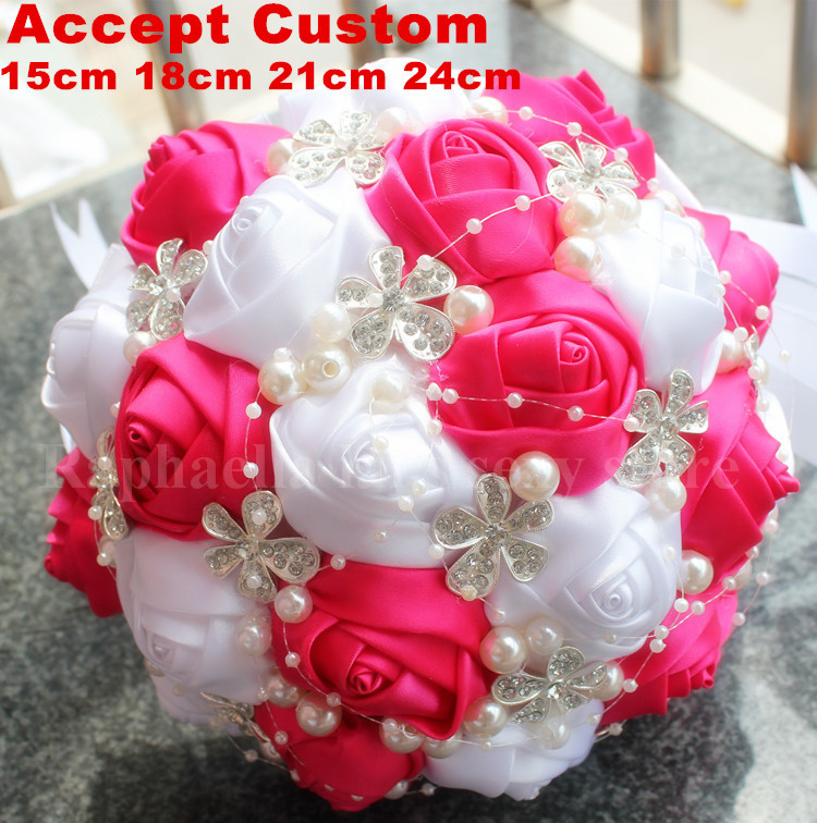 Jewelry Bouquet DIY Custom Artificial Flowers Silk Rose Bouquet ...