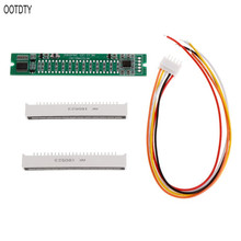 OOTDTY Mini Dual 12 Level indicator VU Meter Stereo Amplifier Board Adjustable light Speed Board With AGC Mode Diy KITS