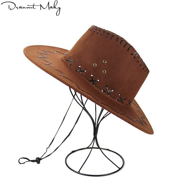 99592c09e2 Al por mayor nueva hombres mujeres Oeste Salvaje vaquera Sombreros de  vaquero occidental headwear Cap Classic