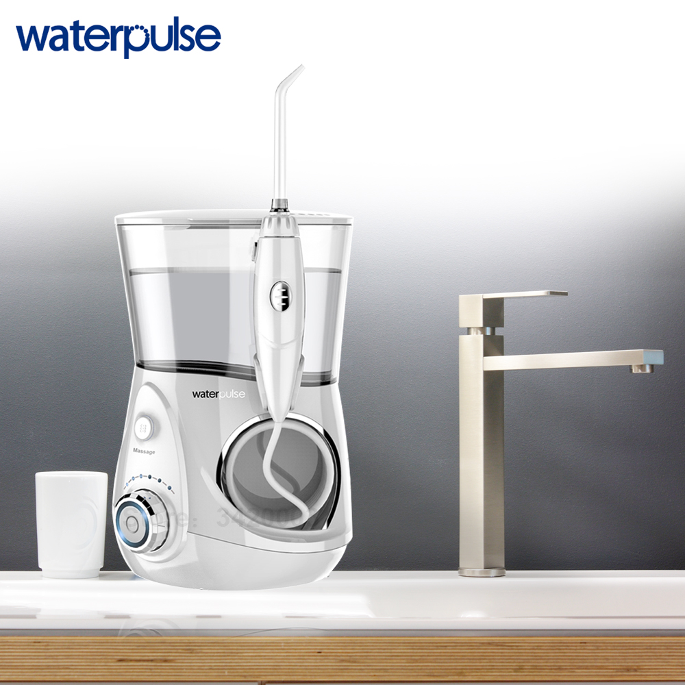 Image 4 - Waterpulse V660 Pro 8 Nozzles Oral Irrigator 12 Pressure Floss Massage Dental Water Electric Flosser Irrigator Oral Water Dental-in Oral Irrigators from Home Appliances