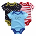 New 2017 Brand Baby Bodysuits Spring summer Babies Newborn Cotton Body Baby short Sleeve Next Infant Bebe Boy & Girl Clothes set