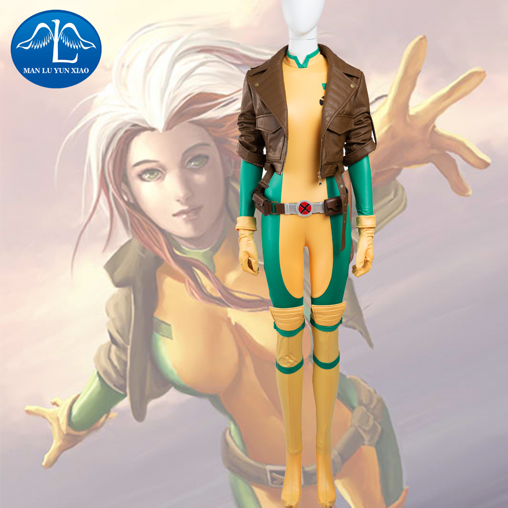 MANLUYUNXIAO New X-Men Rogue Mary Cosplay Costume Deluxe Outfit Carnival Party Cosplay Costumes For Women Factory Price