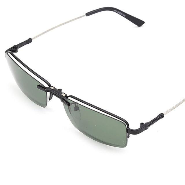 6ea9d196b7d BINYEAE 671 Half Rimless Eyeglasses with Clip-on Titanium Glasses Frame