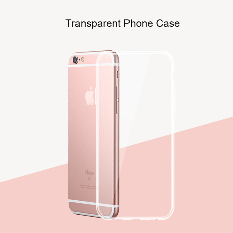 For IPhone X 7 8 Plus 6 6s 5 5s SE Phone Case Silicone Ultra Thin Gel Silicon Soft Ultra Clear Transparent Back Cover Coque Capa in Phone Pouches from Cellphones Telecommunications