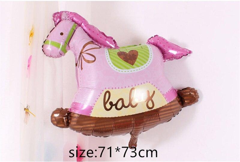 Воздушные шары из фольги для маленьких мальчиков, воздушные шары для детской коляски, шары для девочек на день рождения, надувные вечерние украшения, Детская мультяшная шапка - Цвет: 16