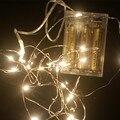 YIYANG светодиодный Звездный струнный свет фея микро прозрачный медный провод батареи 2 м 3 м 5 м 10 м вечерние Рождественские Свадебные украшения - фото