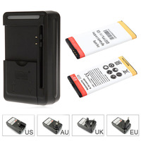 2x 2150mAh Replacement Commercial BL 5H Battery Wall Charger For Nokia Lumia 630 638 636 635