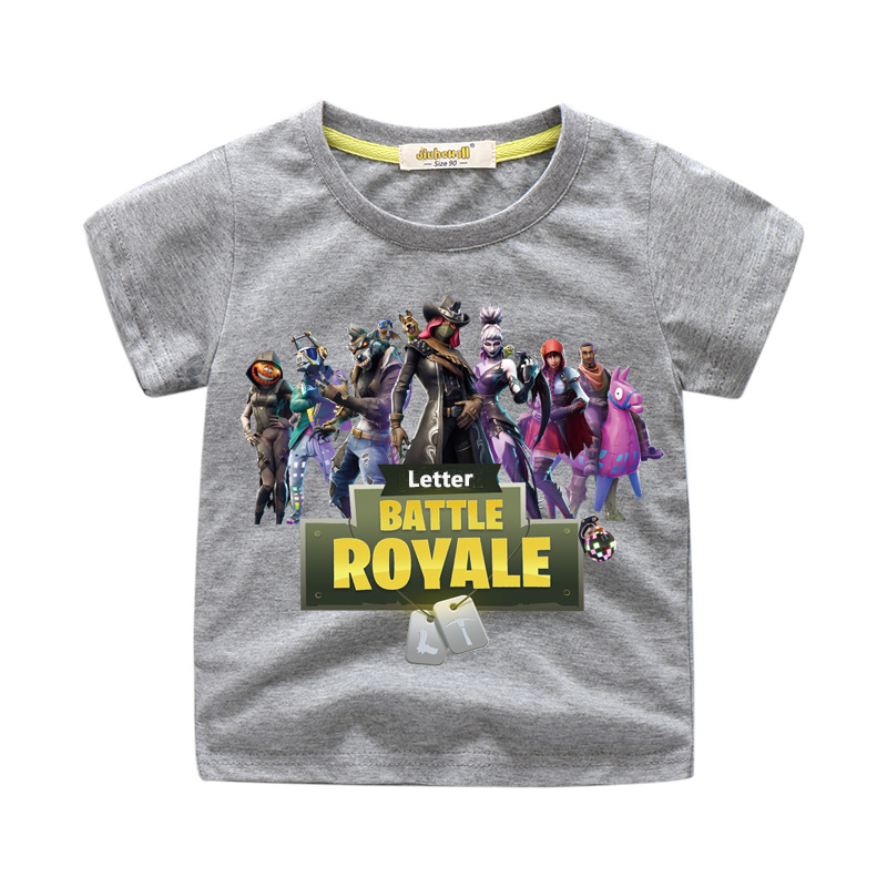 Kids Summer Fortnight Games T-shirts Costume Boys Girls Battle Royale Tee Tops Clothes Children Casual Short Sleeve Tshirts FR71(China)