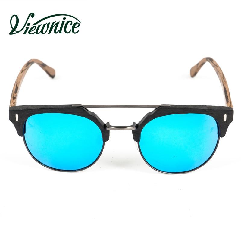 Viewnice 2018 Trä Solglasögon Man Retro Gafas de sol Designer - Kläder tillbehör - Foto 5
