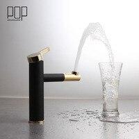 POP Modern Design High Quality Basin Sink Mixer Tap Matte Black White Heightened Deck Mounted Single