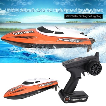 UDI001 20km/h 2.4G Brushed High Speed RC Remote Control Racing Boat Speedboat Ship with Water Cooling System Self-righting