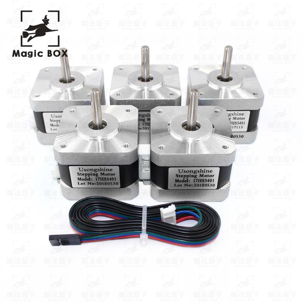 3d printer parts 5pcs lot Free shipping 17HS3401 4 lead Nema 17 Stepper Motor 42 motor