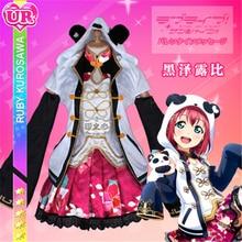 2019 Anime Clothes Love Live Sunshine Aqours Ruby Kurosawa Cosplay Costume Chinese dress gorgeous cheongsam awaken A love live sunshine kurosawa ruby spm figure little demon ee5