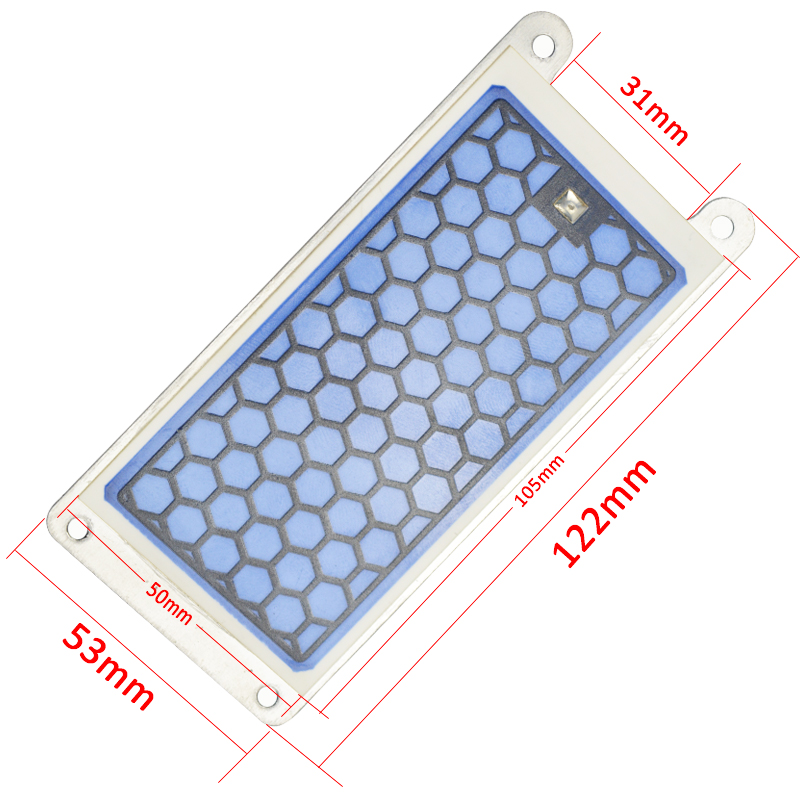 Newest 220v Ozone Ceramic Plate 5g Ozonizer Air and Water Ozone Generator Parts Air Purifier for Home