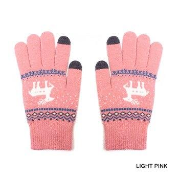 Βρεφικά πλεκτά γάντια με σχέδιο ελαφάκια Παιδικά Ρούχα Ρούχα MSOW