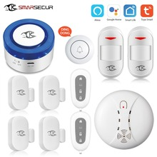 SMARSECUR  wifi Security alarm siren WiFi Smart Siren Tuya Wrok with 433Mhz Sensors