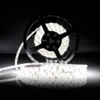แถบแสงที่มีความยืดหยุ่นนำ600 LEDsกันน้ำนำวงโคมไฟสีขาว/สีขาวอบอุ่นLed Super Briaght 5