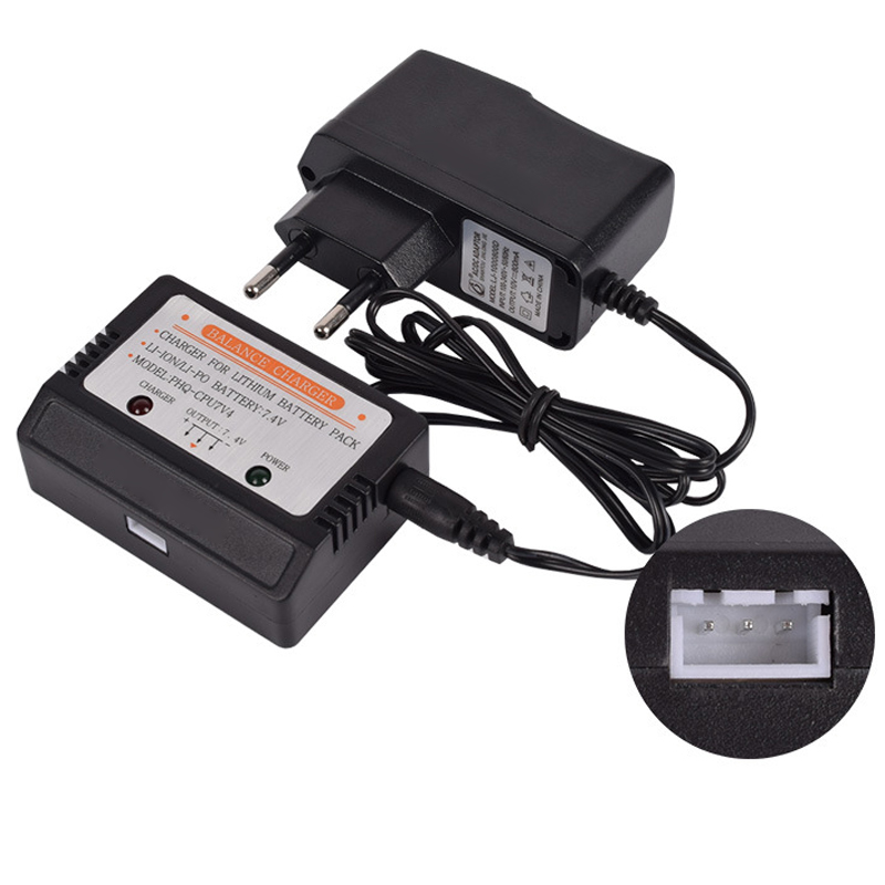 7.4v Balance Charger 800ma Xh-3p 2s Lipo Battery Rc Toys Plug Input Ac 110-240v En Plug Free Shipping To Have Both The Quality Of Tenacity And Hardness