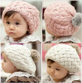 1-6 years New Autumn Winter Baby Hat Bonnet Style Kid Crochet Cap Lovely Infant's Headwear HT03