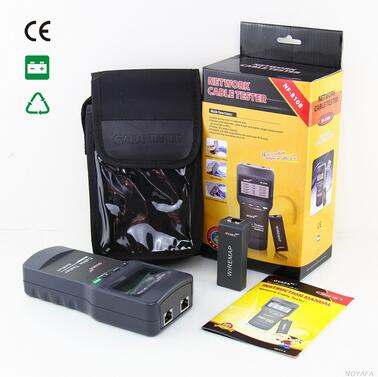 Бесплатная доставка, noyafa NF-8108 сеть LAN кабель метр тестер Cat5 телефон RJ45 RJ11 BNC Cat5E/6E UTP STP