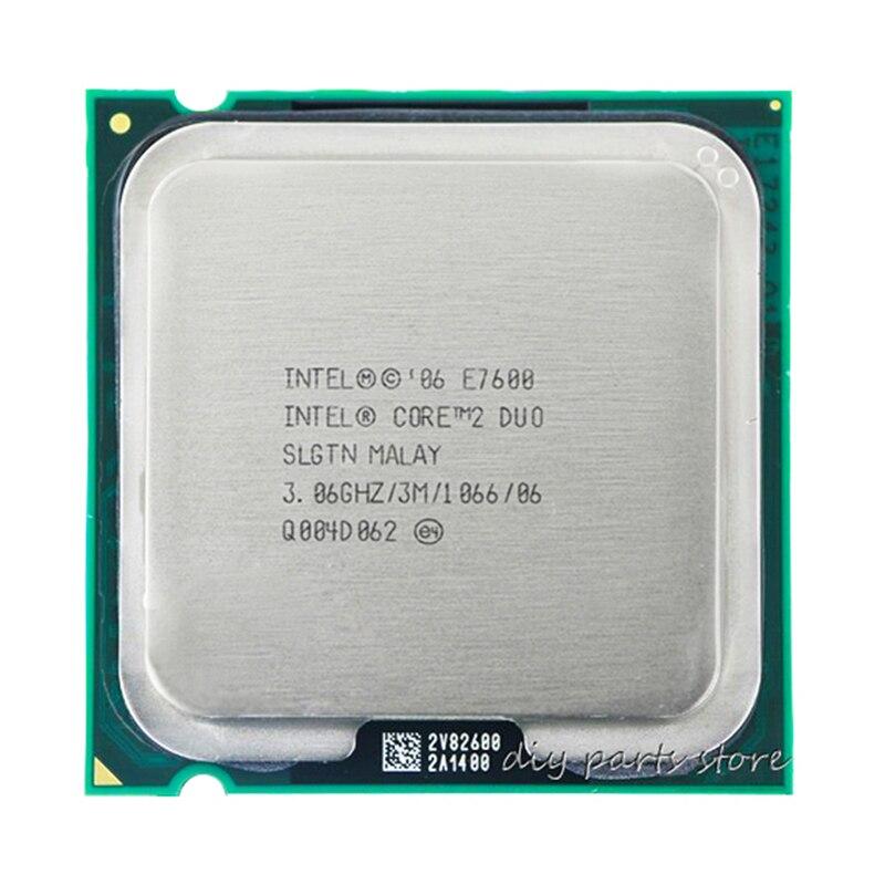INTEL Core 2 Duo E7600 Socket LGA 775 CPU Processor (3.0Ghz/ 3M /1066GHz) 1