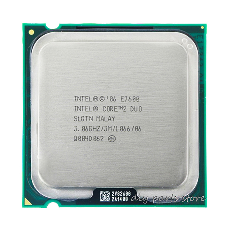INTEL Core 2 Duo E7600 Socket LGA 775 CPU (procesador de 3,0 Ghz/3 m/1066 GHz)