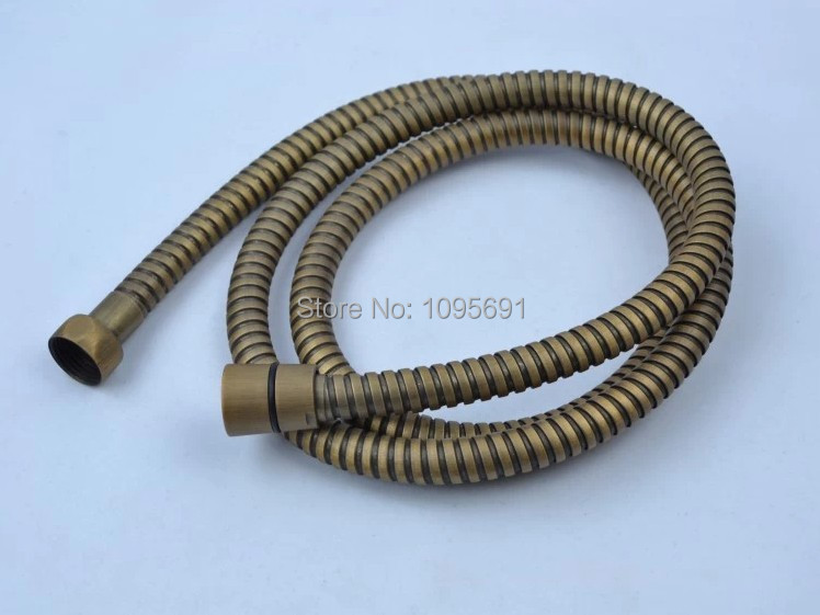 1 5m stainless steel antique brass shower hose Shower pipe with copper core copper cap double
