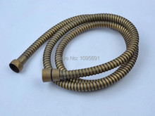 1.5m stainless steel antique brass shower hose Shower pipe with copper core + copper cap + double buckle