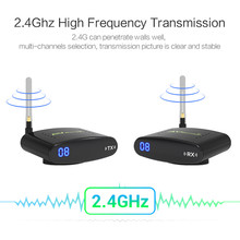New 2.4GHz Wireless AV Audio Video Sender Transmitter Receiver 200M PAT330  Alishow 10km los fpv wireless transmitter and receiver 2 4ghz wireless video transmitter lightweith uav video sender with 400mw 12chs