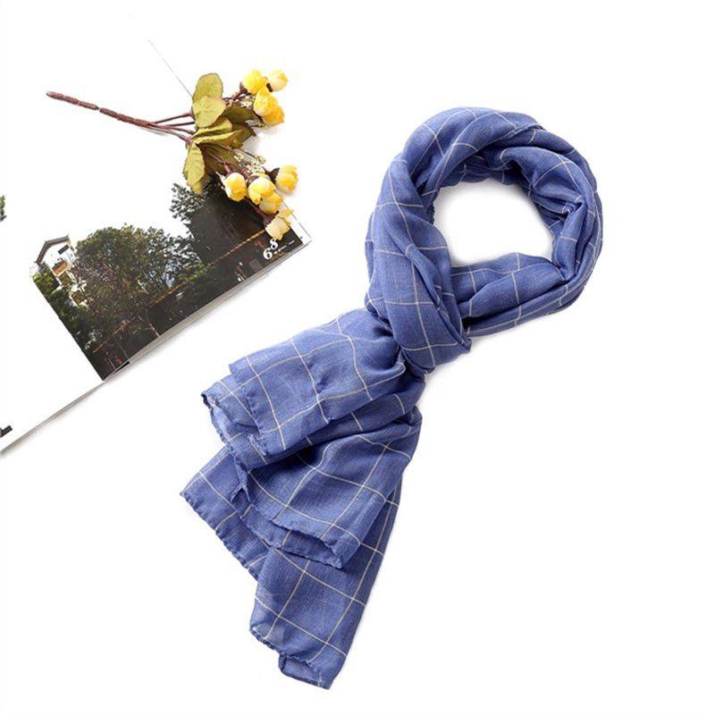 Women Shawls Plaid   Scarf     Wraps   Cotton England Style Retro Shawl   Wrap   Blanket Warm Tippet Classic Elegent 180*75CM