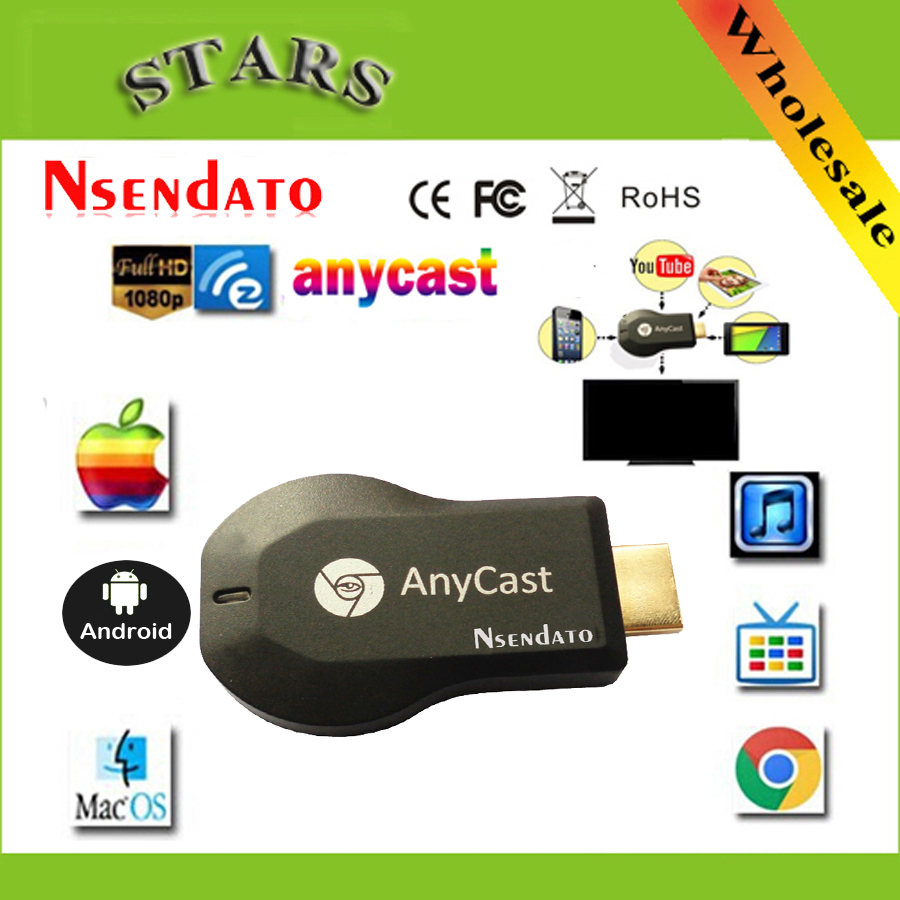 M 128 m Anycast m2 ezcast miracast cualquier AirPlay Crome fundido Cromecast HDMI TV Stick Wifi receptor de pantalla Dongle para ios andriod