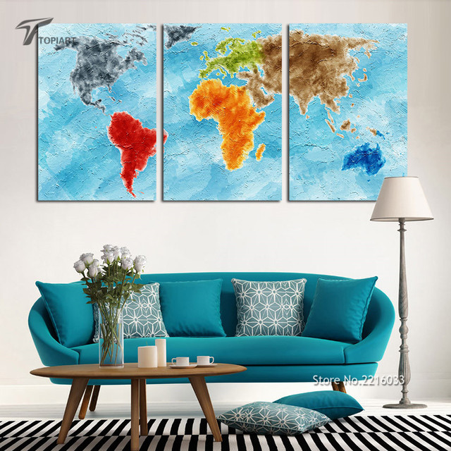 Aliexpress.Com : Buy Large Wall Art Canvas Print Turquoise World