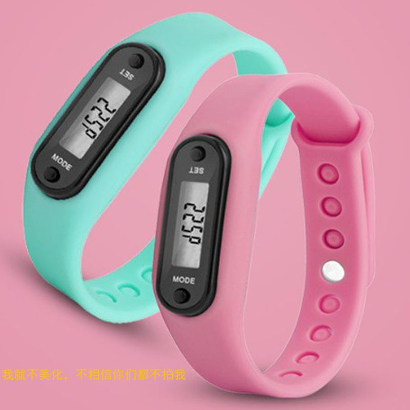 Digital LCD Silicone Wrist Band Pedometer Run Step Walk Distance Calorie Counter Wrist Lovers Sport Fitness Multi-function Watch